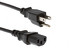 AC Power Cord, 5-15P to C13, 18 AWG, 1ft, Black
