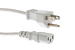 AC Power Cord, 5-15P to C13, 18 AWG 6', Cream