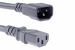 AC Power Cord, C13 to C14, 18 AWG, 2', Grey