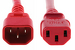 AC Power Cord, C13 to C14, 18 AWG, 2', Red