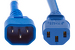 AC Power Cord, C13 to C14, 18 AWG, 4ft, Blue