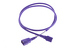 AC Power Cord, C13 to C14, 18 AWG, 4', Purple