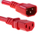 AC Power Cord, C13 to C14, 18 AWG, 6', Red
