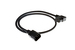 AC Power Cord, C13 Right Angle to C14, 18 AWG, 6'