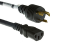 AC Power Cord, L6-20P to C13, 14 AWG, 15'