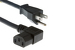 AC Power Cord, 5-15P to C13 Right Angle, 18 AWG, 10ft