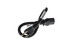 "AC Power Cord, 5-15P to C13, 14 AWG, 18"", Black"