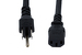 AC Power Cord, 5-15P to C13, 14 AWG, 2', Black