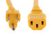 AC power cord, 5-15p to C13, 14 AWG, 3', Yellow
