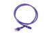 AC power cord, 5-15p to C13, 14 AWG, 4', Purple