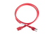 AC power cord, 5-15p to C13, 14 AWG, 4', Red