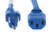 AC power cord, 5-15p to C13, 14 AWG, 6', Blue