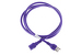 AC power cord, 5-15p to C13, 14 AWG, 6ft, Purple
