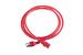 AC power cord, 5-15p to C13, 14 AWG, 6ft, Red
