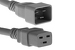 AC power cord, C20 to C19, 12 AWG, 2', Grey