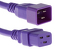 AC power cord, C20 to C19, 12 AWG, 2', Purple