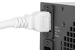 AC power cord, C20 to C19, 12 AWG 2ft, White