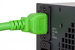 AC power cord, C20 to C19, 12 AWG, 4', Green