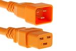 AC power cord, C20 to C19, 12 AWG, 4', Orange