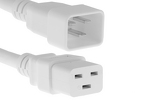 AC power cord, C20 to C19, 12 AWG, 4', White