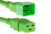 AC power cord, C20 to C19, 12 AWG, 6ft, Green