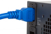 AC power cord, C20 to C19, 12 AWG, 10', Blue
