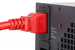 AC power cord, C20 to C19, 12 AWG, 10', Red