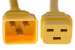 AC power cord, C20 to C19, 12 AWG, 10', Yellow