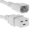 AC power cord, C14 to C19, 14 AWG, 2', White