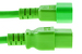 AC power cord, C14 to C19, 14 AWG, 4', Green