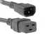 AC power cord, C14 to C19, 14 AWG, 4', Grey