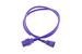 AC power cord, C14 to C19, 14 AWG, 4', Purple