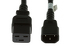 AC power cord, C14 to C19, 14 AWG, 4', Black