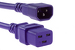 AC power cord, C14 to C19, 14 AWG, 6', Purple