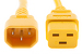 AC power cord, C14 to C19, 14 AWG, 6', Yellow