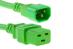 AC power cord, C14 to C19, 14 AWG, 10', Green