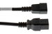 AC Power Cord, C14 to C19, 14 AWG, 12', Black