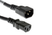 AC Power Cord, C13 to C14, 14 AWG, 9', Black