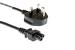 AC Power Cord - U.K. Plug BS 1363 to C5, 2 Meters