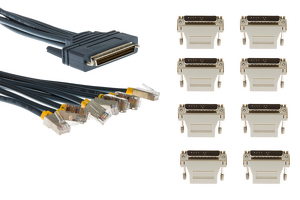 Cisco 8 Lead Octal Cable with Adapters, 3', CAB-OCTAL-KIT