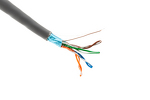 Cat5E Stranded Ethernet Cable, 1000' Pull Box, 350MHZ STP, Gray