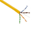 Cat5E Ethernet Cable, 1000' Pull Box, 350MHZ UTP, Yellow