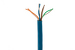 Cat5E Stranded Ethernet Cable, 1000' Pull Box, 350MHZ UTP, Blue