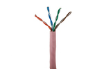 Cat5E Stranded Ethernet Cable, 1000' Pull Box, 350MHZ UTP, Pink