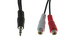 3.5mm Male to (2) RCA Female Y-Cable, 6""