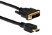 HDMI to DVI-D Cable w/ Gold Plated Connectors, 3'