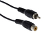 RCA Male to Female Extension Cable, 6', Black