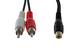 """RCA 2 Plug/1 Jack Y Cable, 6"""""""