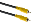 RCA Male to Male RG59 Cable, 25', Black