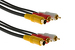 S-Video w/ 2 RCA-M Cable w/ Gold Plated Connectors, 25', Black